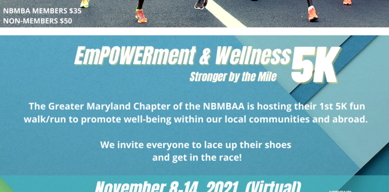 EmPOWERment & Wellness Stronger by the Mile Virtual 5K
